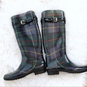Ralph Lauren Plaid Rossalyn II Buckle Rain Boot